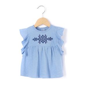T-shirt com bordados e folhos 1 mês-3 anos R mini