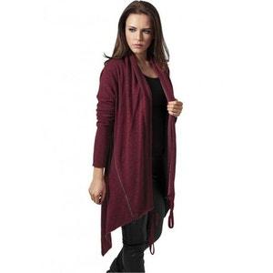 Gilet long femme rouge