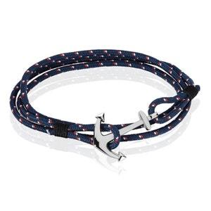 Bracelet Acier Ancre Cordon HISTOIRE D'OR