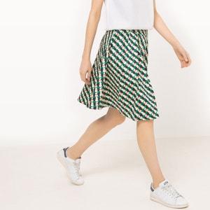 Flared Geometric Print Skirt MADEMOISELLE R