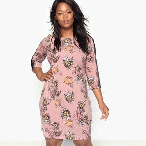 Rechte jurk in bedrukt tricot CASTALUNA