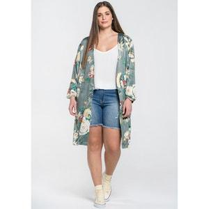 Langer Kimono, Boyfriend-Form, Blumenmuster MAT FASHION