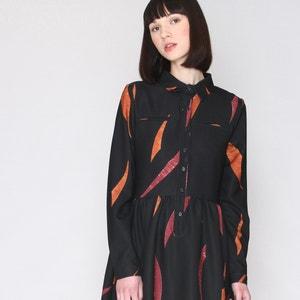 Printed Dress with Shirt Collar PEPALOVES
