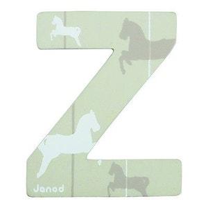 Lettre décorative en bois : Z JANOD