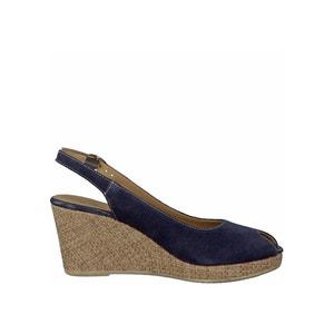 Sandálias de cunha, em pele, 29303-28 TAMARIS
