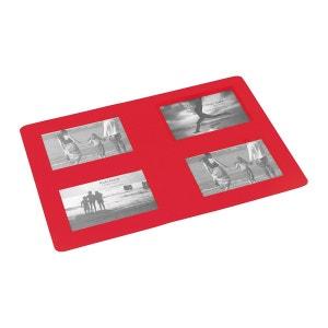 Set de table Cadre photos rouge 29 x 42 cm PONT DE LONGUAY