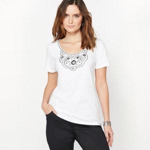 T-shirt brodé, pur coton peigné ANNE WEYBURN