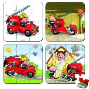 Valisette 4 Puzzles Camion Leon - JURJ02882 JANOD