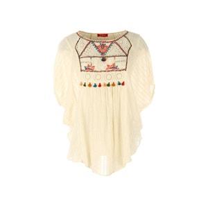 Blusa de mangas curtas, bordada RENE DERHY