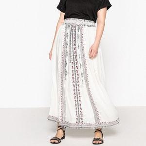 Flared Tribal Print Maxi Skirt CASTALUNA