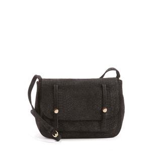 Cedrat Leather Cross Body Bag with Flap PETITE MENDIGOTE