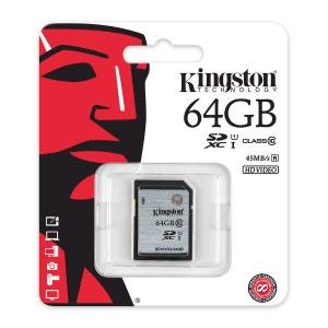 Carte mémoire Kingston SDXC 64 Go - UHS-I Classe 10 KINGSTON