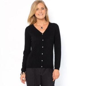 Buttoned Cashmere Cardigan ANNE WEYBURN