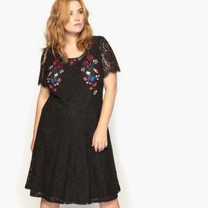 Kurzärmeliges Kleid, A-Linie, halblang CASTALUNA