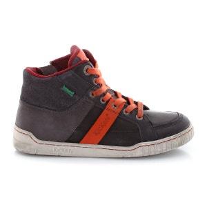 Buty sportowe podwyższone Windcut, sznurowane, skóra i materiał tekstylny KICKERS