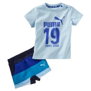 Conjunto T-shirt + calções 6 meses - 3 anos PUMA