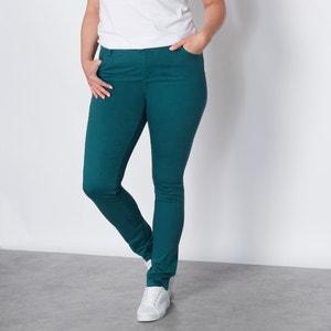 Pantalón 5 bolsillos slim de sarga de color CASTALUNA