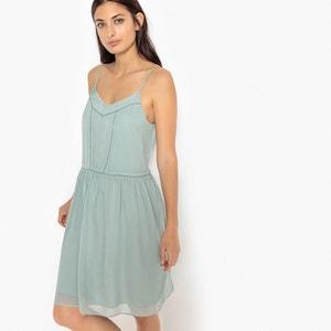 Plain Mini Shift Dress with Shoestring Straps SUD EXPRESS