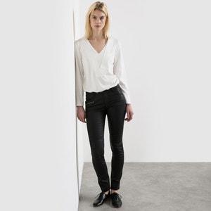 Pantalón revestido estilo motero R studio