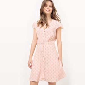 Bedrukte jurk met knoopsluiting, viscose MADEMOISELLE R