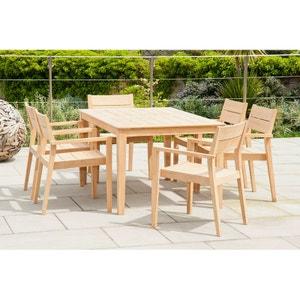 Salon de jardin 6 places rectangulaire Tivoli en roble FSC ALEXANDER ROSE DESIGNER