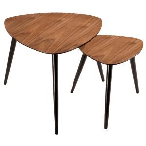 Table basse scandinave en bois (lot de 2) RENDEZ VOUS DECO