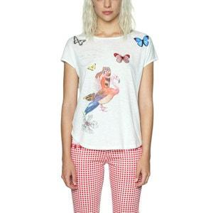 Tee shirt col rond imprimé animalier DESIGUAL