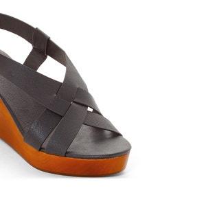 Sandales compensées bois CASTALUNA