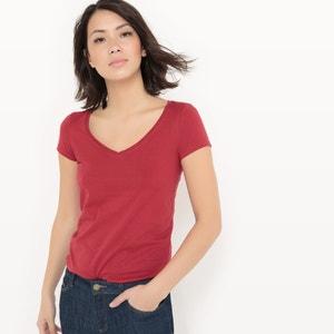 T-shirt met V-hals, BIO katoen R essentiel