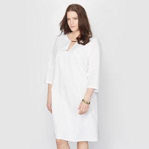 Vestido de lino y algodón TAILLISSIME