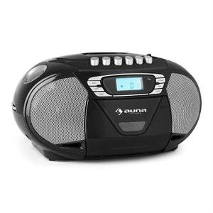 KrissKross Lecteur CD-K7 portable USB MP3 CD -noir AUNA