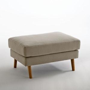 Pouf coton et lin Stockholm, confort Excellence La Redoute Interieurs
