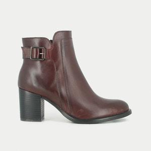 Tulia Heeled Leather Ankle Boots JONAK