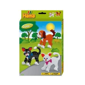 Boite de perles Hama Midi Technique à repasser : Le chien et les chats HAMA