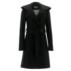 Manteau col haut en cachemire noir RENOMA