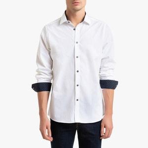 Slim hemd met stippen
