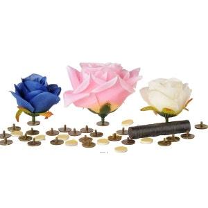Supports collants Tete de fleur X24 +double face X24+ Aimant X24 D 1 50 cm ARTIF-DECO