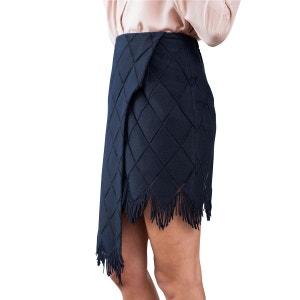 Jupe en coton broderie à Franges cuisses transparentes avec tulle extra fin SUNDAY LIFE