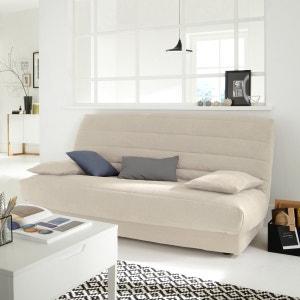 Capa para sofá clic-clac em camurcina La Redoute Interieurs