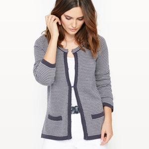 Cardigan in jacquard tricot ANNE WEYBURN