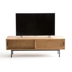 Mueble TV roble y rejilla 160 cm, Waska
