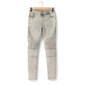 Jegging en jean découpes