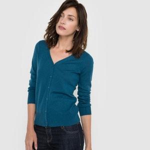 Pure Cashmere Jersey V-neck Cardigan R essentiel