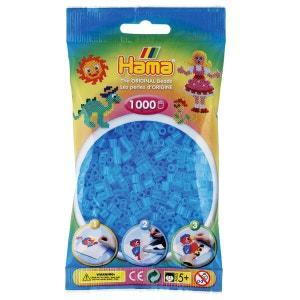 Sachet de 1000 perles Hama Midi : Bleu transparent HAMA