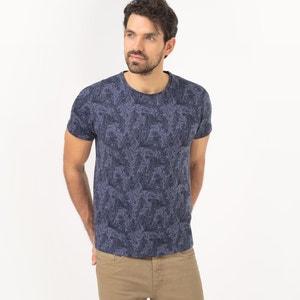 Bedrukt T-shirt met ronde hals, 100% katoen R essentiel