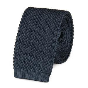 Cravate tricot GRIS ARDOISE uni VIRTUOSE