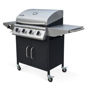 Barbecue au gaz Albert cuisine extérieure 4 brûleurs + feu latéral thermomètre ALICE S GARDEN
