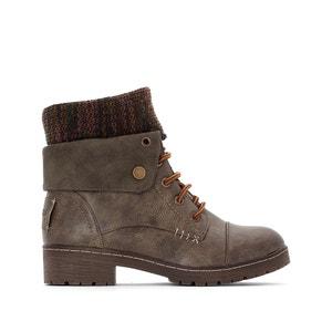 Boots bi-matière à lacets avec revers BRINGIT COOLWAY