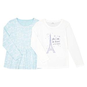 2er-Pack Shirt, lange Ärmel, 3-12 Jahre La Redoute Collections