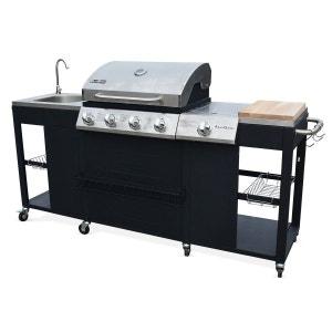 Barbecue au gaz D'Artagnan cuisine extérieure 5 brûleurs évier planche thermomèt ALICE S GARDEN
